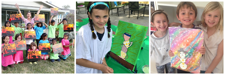 Kids paint parties for Kids paint party